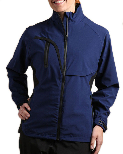 Glen Echo Navy Women's Stretch Tech Rain Jacket - Size: M