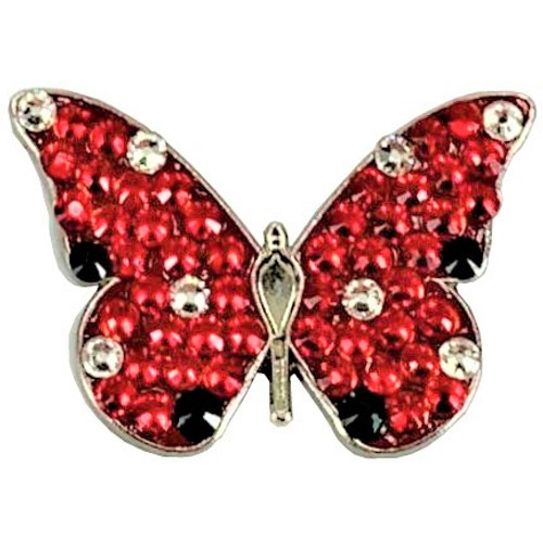 Bonjoc Red Butterfly Swarovski Crystal Ball Marker