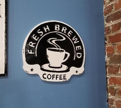 Enamel Coffee Sign