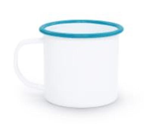 Vintage Edge Mug - Turquoise/White