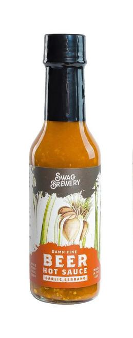 Beer Hot Sauce - Garlic Serrano