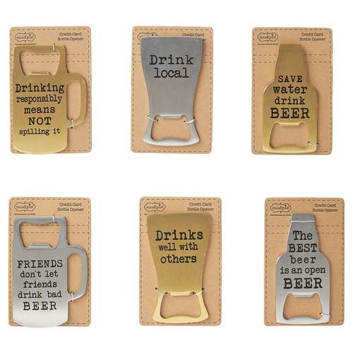 Beer Bottle Openers - Drink Local - Silver