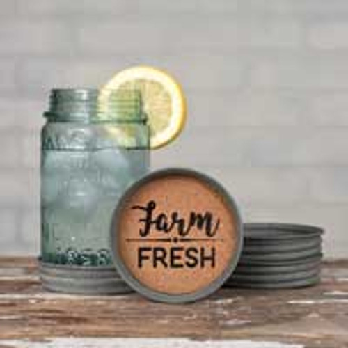 Mason Jar Coaster- Farm Fresh