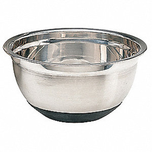 Stainless Mix Bowl with Rubber Base - 8 qt