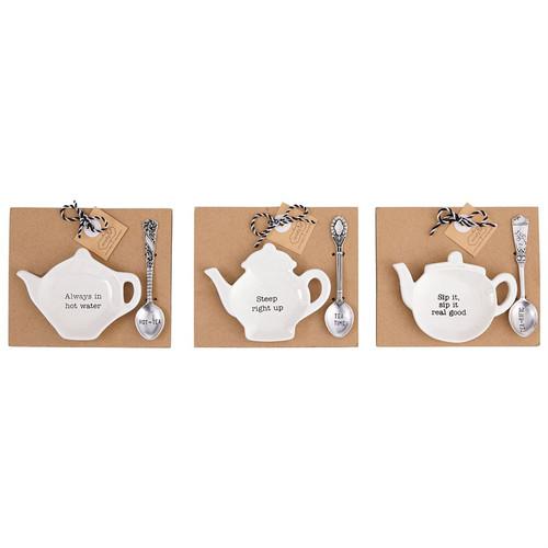 Teapot Spoon Rest Caddy Set