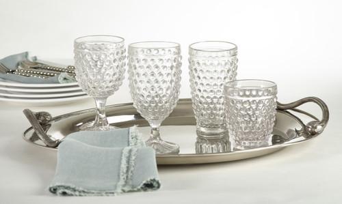 Hobnail Wine Glass