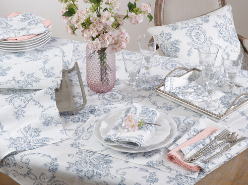 Toile Floral Runner