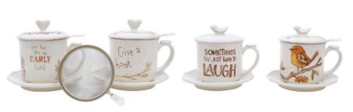 Tea Set with Strainer- Owl