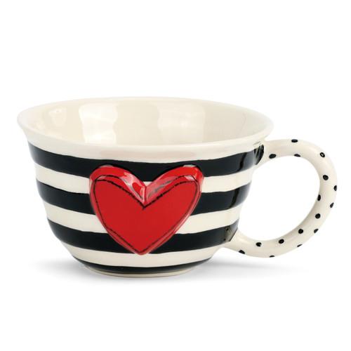 Wide Stripe Tea Cup
