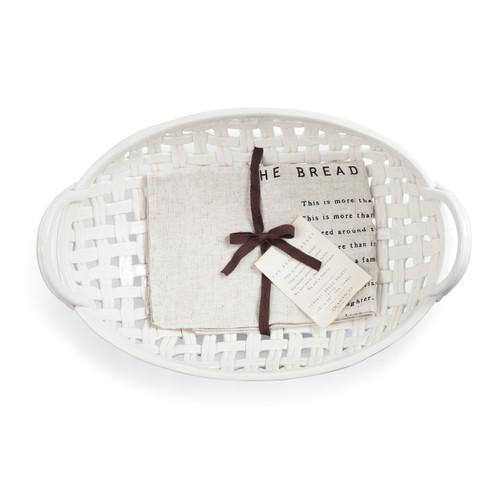 Ceramic Bread Basket w/Towel