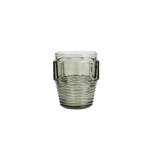 Double Old Fashioned Bolt Glass- Smoke Grey
