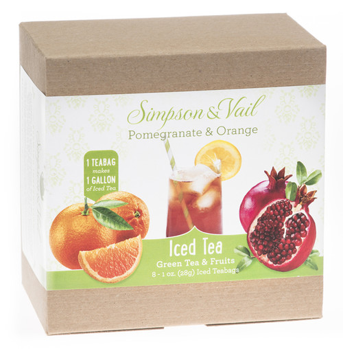 Pomegranate and Orange Green Iced Tea Bags