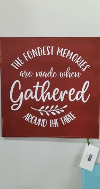 Fondest Memories Canvas- Barn Red
