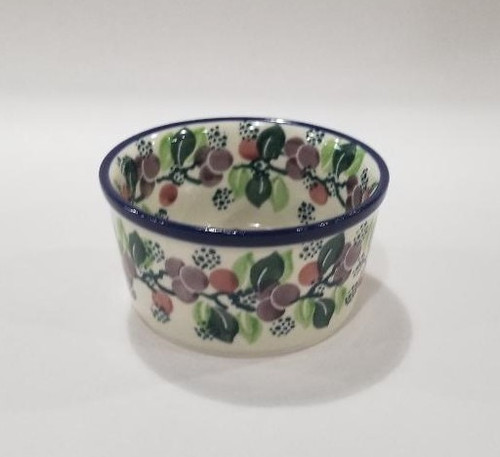 Ramekin- Burgundy Berry Green