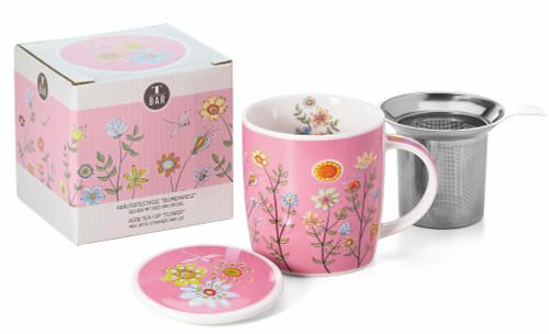 Flower Meadow Tea Infuser Mug