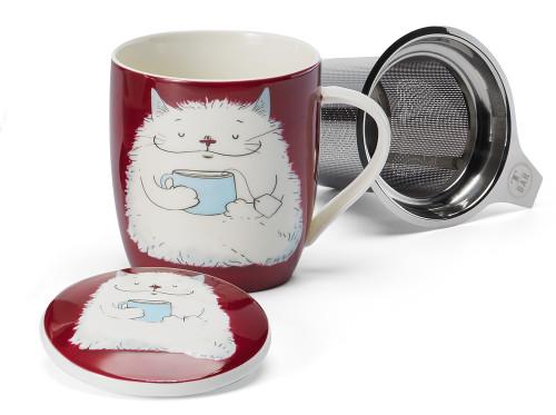Fluffy Cat Tea Infuser Mug