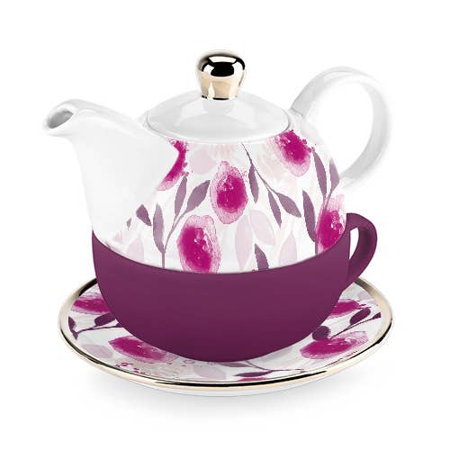 Addison Berry Floral Tea for One