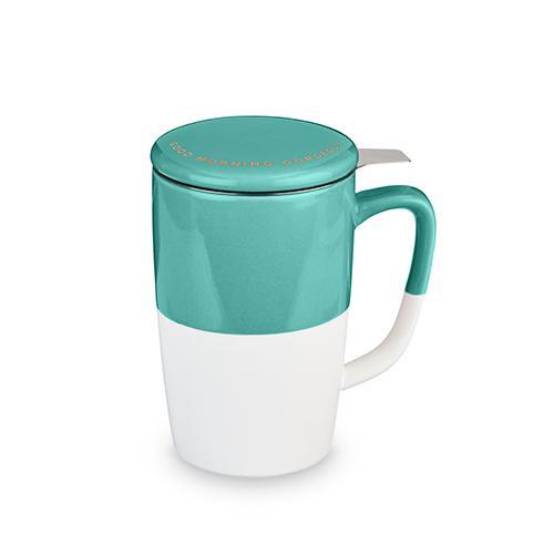Delia Tea Mug and Infuser - Teal