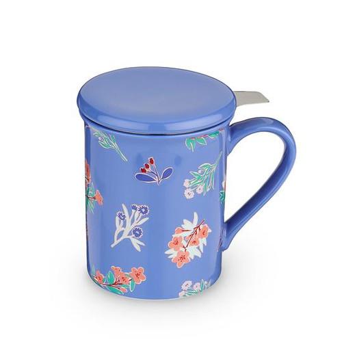 Annette Tea Flower Blue Tea Mug and Infuser