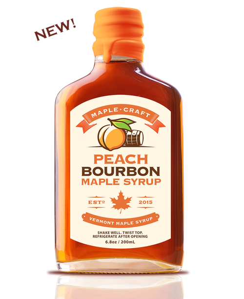 Maple Syrup- Peach Bourbon