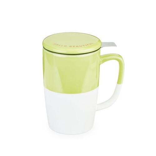 Delia Tea Mug and Infuser- Green