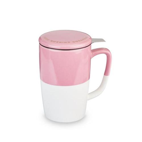 Delia Tea Mug and Infuser- Pink