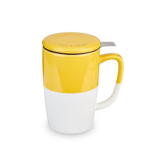 Delia Tea Mug and Infuser- Yellow