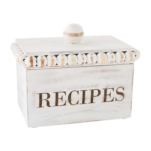Beaded Recipe Box