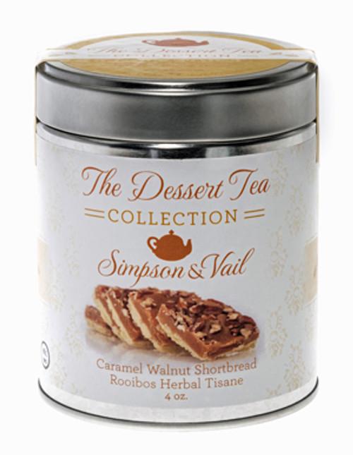 Caramel Walnut Shortbread Dessert Tea