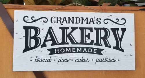 Grandma's Bakery Slat Plaque