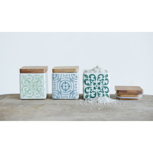 Tile Stamp Salt Box