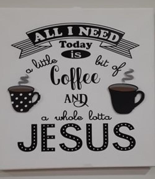 Coffee & Jesus Dots Canvas