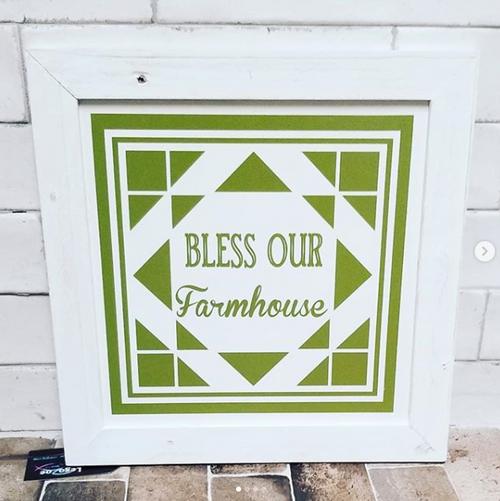 Bless Our Farmhouse Barn Quilt