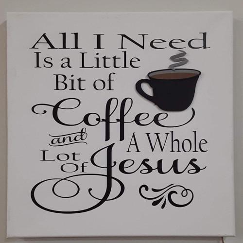 Coffee & Jesus Script Canvas