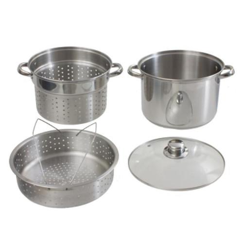 Pasta and Steamer Pot Set- 8 qt