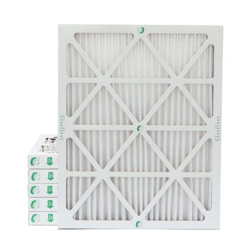 """20x25x2 MERV 8 Pleated 2"""" Inch Air Filters for HVAC Systems. 6 Pack"""
