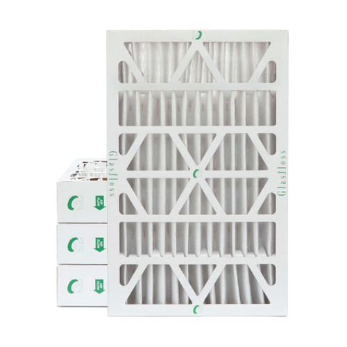 """16x25x4 MERV 8 ( FPR 5-6 ) Pleated 4"""" Inch Air Filters for HVAC Systems.  4 Pack.   Exact Size: 15-1/2 x 24-1/2 x 3-3/4"""