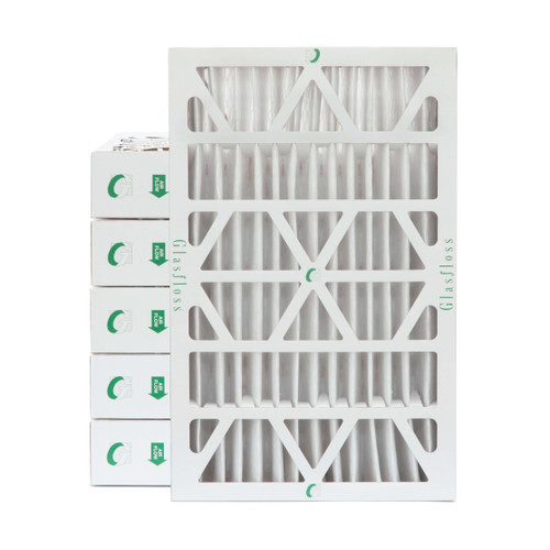 """16x25x4 MERV 8 Pleated 4"""" Inch Air Filters for HVAC Systems. Case of 6."""