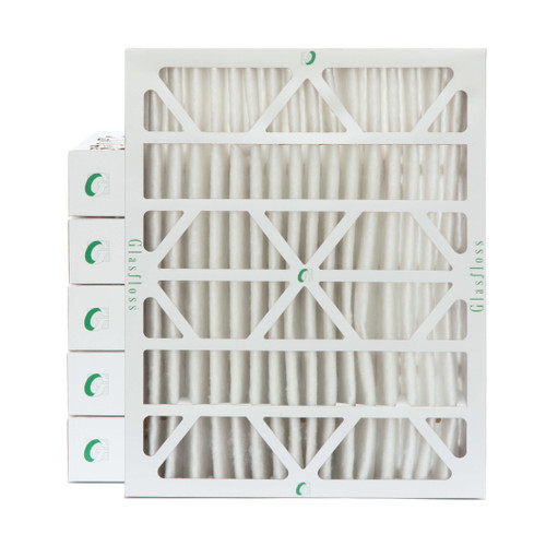 """20x25x4 MERV 8 ( FPR 5-6 ) Pleated 4"""" Inch Air Filters for HVAC Systems.  Case of 6.   Exact Size: 19-1/2 x 24-1/2 x 3-3/4"""