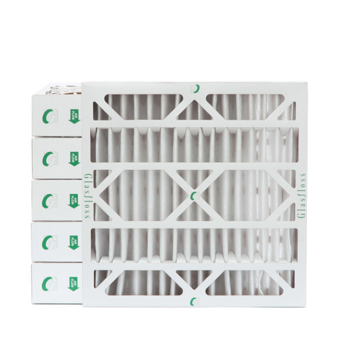"""24x24x4 MERV 8 ( FPR 5-6 ) Pleated 4"""" Inch Air Filters for HVAC Systems. Case of 6"""