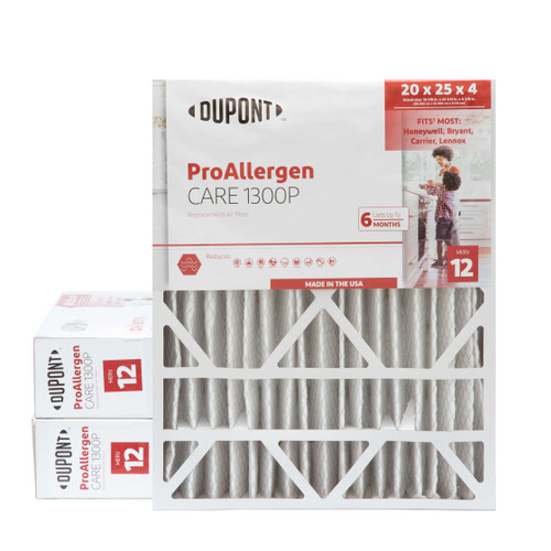 20x25x4-3/8 MERV 12 Replacement HVAC filters for Honeywell & Carrier air cleaners