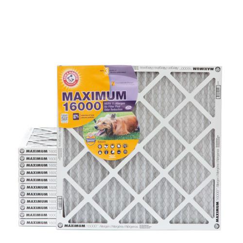 18x18x1 Arm & Hammer MAX 16000 MERV 11 Allergen HVAC Filter for Odors Case of 12