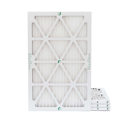 14x30x1 MERV 8 Pleated Air Filters for HVAC Systems. Box of 4