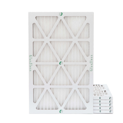 16x25x1 MERV 8 ( FPR 5-6 ) Pleated Air Filters for HVAC Systems.  6 Pack