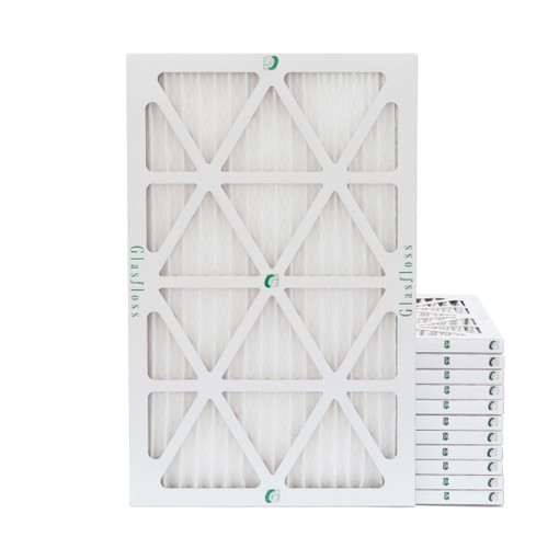 16x25x1 MERV 8 Pleated Air Filters for HVAC Systems. Case of 12