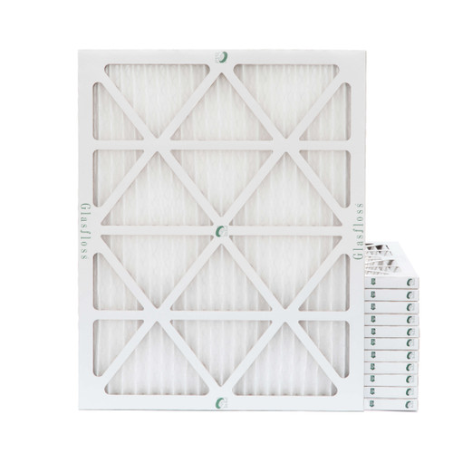 18x25x1 MERV 8 Pleated Air Filters for HVAC Systems. Case of 12