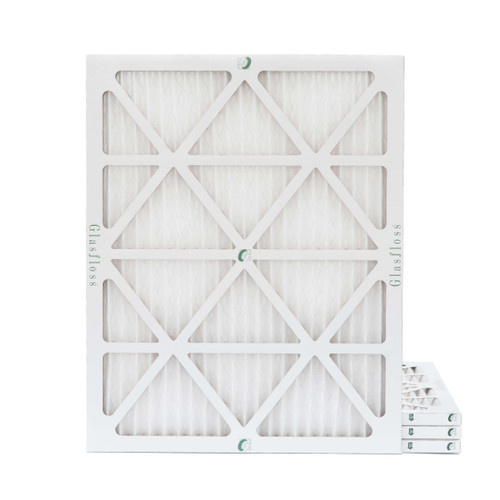 20x22x1 MERV 8 Pleated Air Filters for HVAC Systems. Box of 4