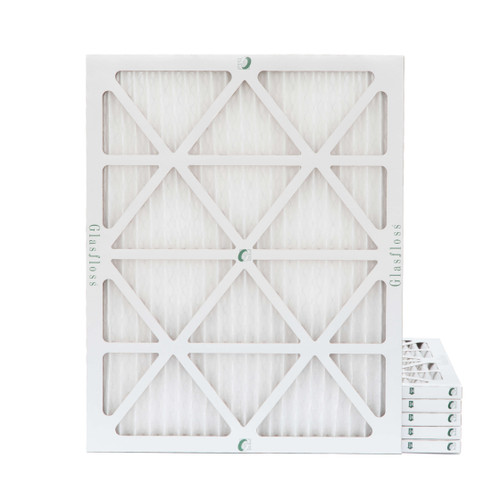 20x25x1 MERV 8 Pleated Air Filters for HVAC Systems. 6 Pack