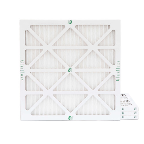 """25x25x1 MERV 13 ( FPR 10 ) Pleated 2"""" Inch Air Filters for HVAC Systems.  4 Pack"""