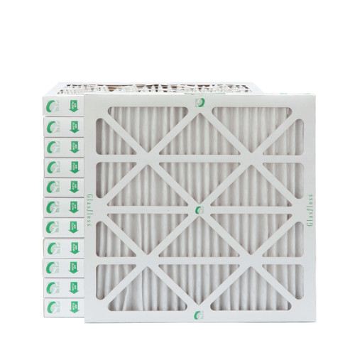"""12x12x2 MERV 8 Pleated 2"""" Inch Air Filters for HVAC Systems. Case of 12"""